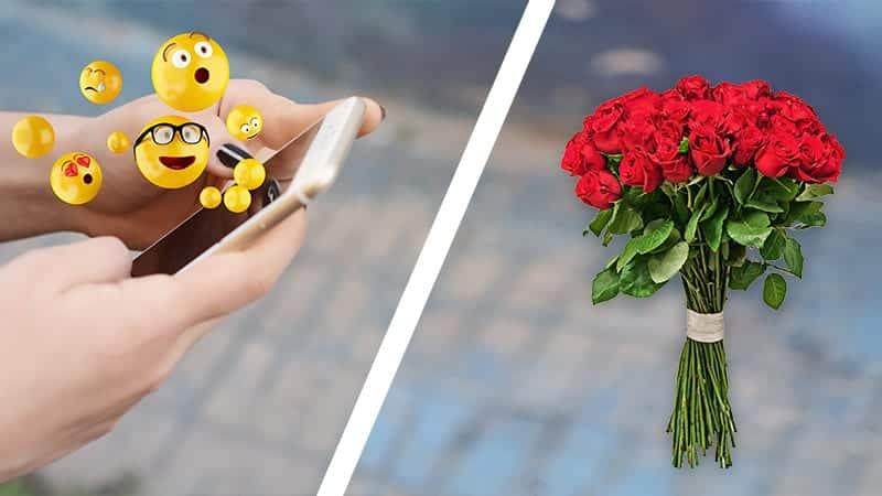 Emoji Göndermek mi? Çiçek göndermek mi?