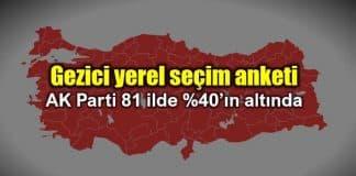 Gezici yerel seçim anketi: AK Parti 81 ilde yüzde 40'ın altında