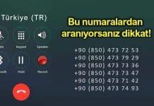 08504737253 nolu telefondan arama alanlar dikkat!