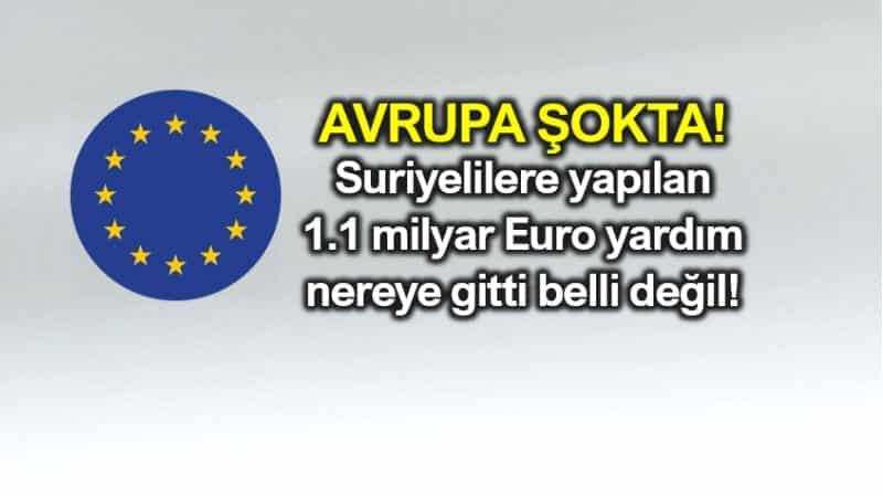 Avrupa Birliği: Suriyelilere yapılan yardımlar nereye gitti belli değil!