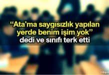 Antalya Kepez'de İmam Hatip Lisesinde Atatürk'e hakaret eden öğretmen