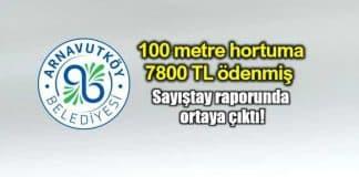 Arnavutköy Belediyesi bir metre hortum için 78 TL ödemiş sayıştay raporu