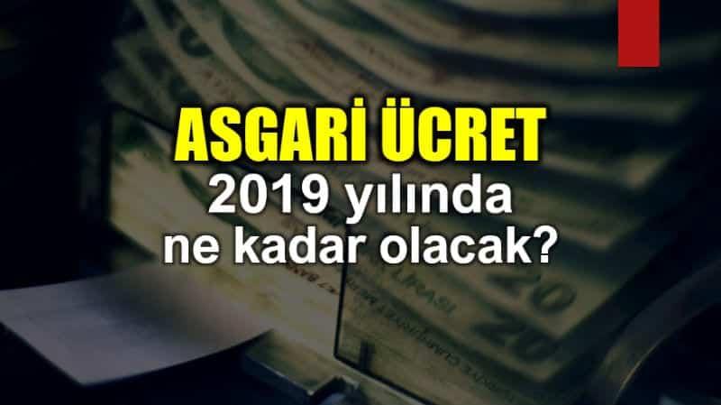 Asgari ücret Ocak 2019 ne kadar olacak?