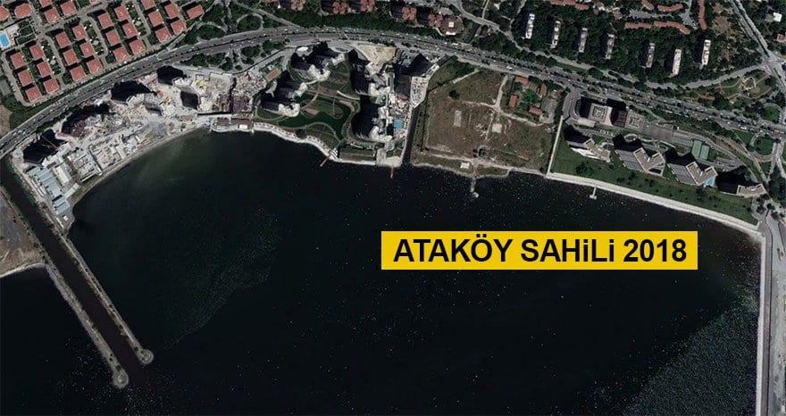 Ataköy sahili (Yıl: 2018)