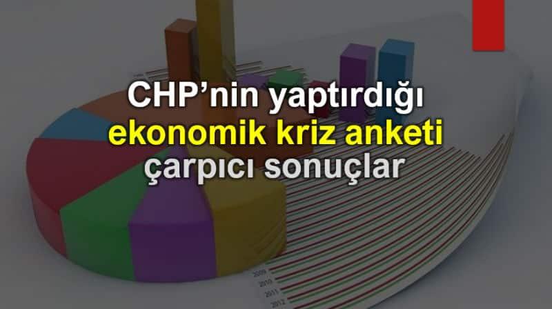 CHP ekonomik kriz anketi yüzde akp ak parti seçmeni ekonomi