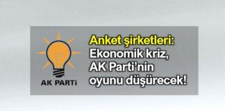 Ekonomik kriz, yerel seçim AK Parti oyunu düşürecek konda anket