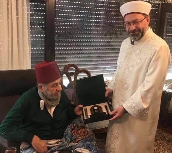 Diyanet işleri Başkanı Prof. Dr. Ali Erbaş Atatürk düşmanı Kadir Mısıroğlu ziyaret