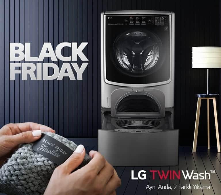 LGBlack Fridayözel indirim kampanyaları başladı! twin wash çamaşır makinesi twinwash