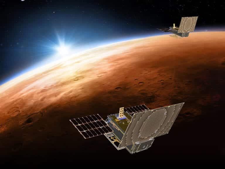Insight ile birlikte fırlatılan MarCO uydusunun animasyon görüntüsü