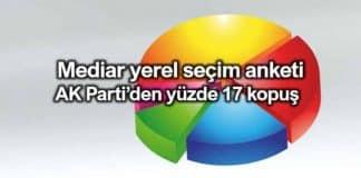 Mediar yerel seçim anketi: AK Parti'den yüzde 17 kopuş