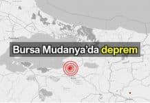 Bursa Mudanya deprem meydana geldi