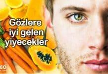 Göz sağlığını koruyan ve gözlere iyi gelen yiyecekler listesi