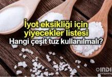 İyot eksikliği için yiyecekler listesi: Ne tür tuz tüketilmeli kullanılmalı