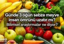 Günde 3 öğün sebze meyve ömrü uzatır mı?