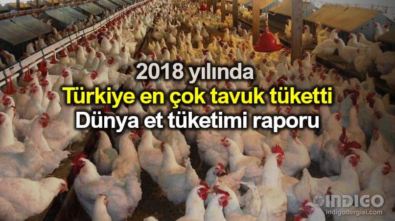 Türkiye 2018 yılında en çok tavuk eti tüketildi
