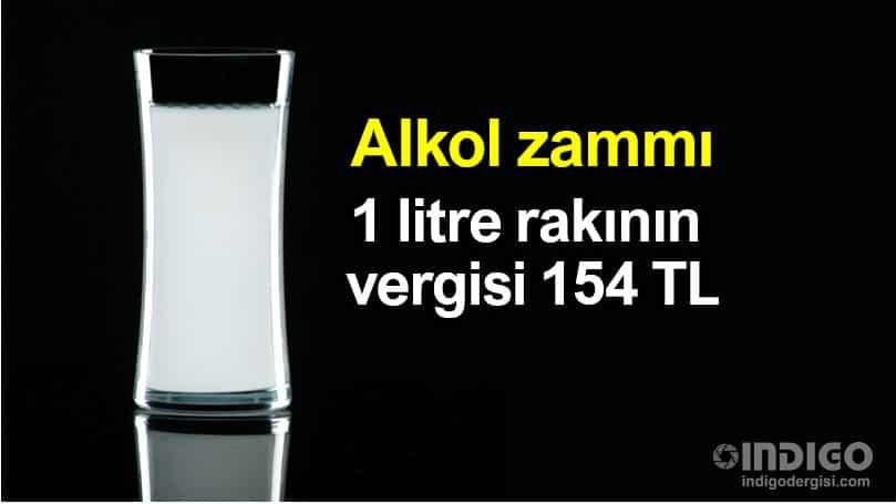 Alkollü içeceklere zam: 1 litre rakının vergisi 154 TL