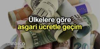 Ülkelere göre asgari ücret ile geçim araştırması