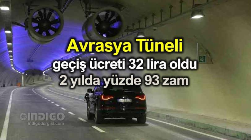 Avrasya Tüneli geçiş ücreti 32,10 TL oldu: 2 yılda yüzde 93 zam!