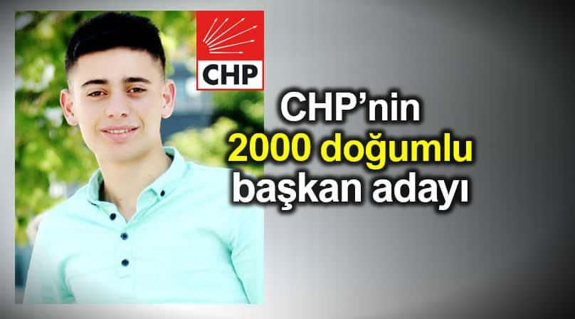 CHP 2000 doğumlu belediye başkan adayı Bekir Yılan