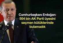 Erdoğan: 504 bin AK Parti üyesini seçmen kütüklerinde bulamadık