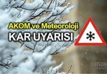 İstanbul ne zaman kar yağacak? AKOM ve Meteoroloji'den uyarı
