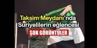 Taksim Meydanı Suriyelilerin dikkat çeken yılbaşı eğlencesi 1 ocak 2019