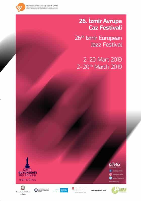 26. İzmir Avrupa Caz Festivali afişi