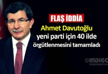 Ahmet Davutoğlu yeni parti için 40 ilde örgütlenmeyi tamamladı iddiası