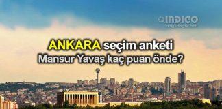 Ankara yerel seçim anketi: Mansur Yavaş kaç puan önde?