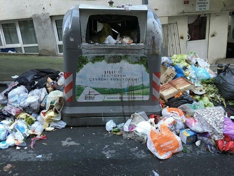 chp şişli belediyesi çöp dağları