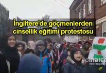 İngiltere Müslüman göçmenlerden cinsellik eğitimi protestosu