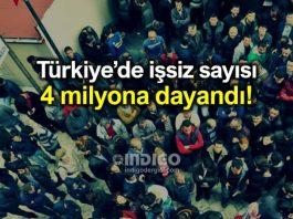 İşsizlik rakamları açıklandı: İşsiz sayısı 4 milyona yaklaştı!