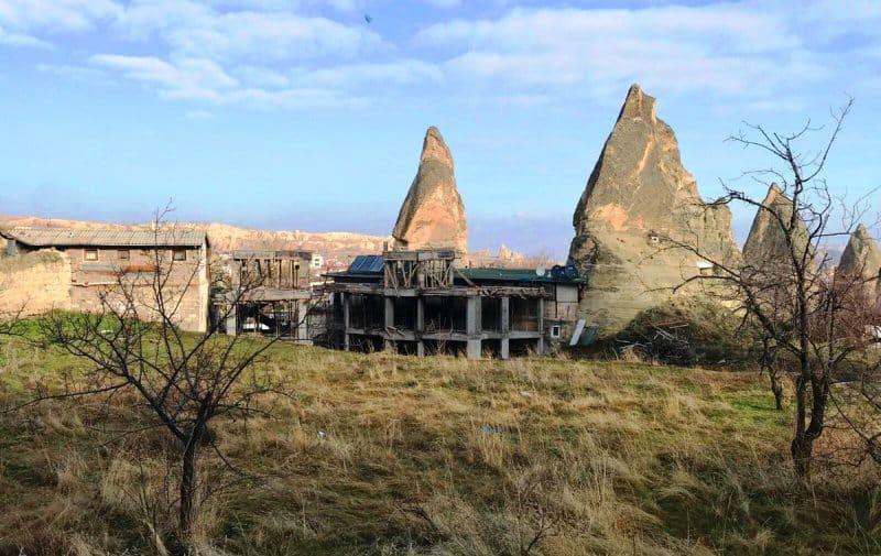 kapadokya otel inşaatı göreme