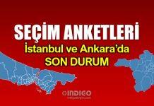 Son seçim anketleri: İstanbul ve Ankara son durum