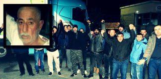 TIR şoförleri Remzi Çiçek hakkında verilen idam kararını protesto etti