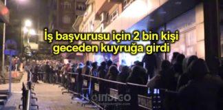 TTK iş başvurusu için 2 bin kişi geceden kuyruğa girdi