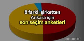 8 farklı şirketten seçim anketi: Ankara son anketler