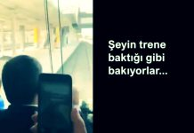 AK Parti heyetinden trene bakan vatandaşlara: Şeyin trene baktığı gibi