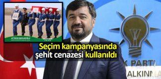 AK Parti giresun adayı seçim kampanyası için şehit cenazesi fotoğrafı kullandı