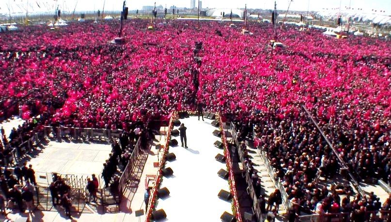 Erdoğan: 1 milyon 600 bin kişi Yenikapı ortak mitingi