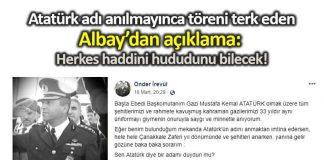 Albay Önder İrevül: Herkes haddini hududunu bilecek!