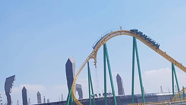 ankapark roller coaster tepede asılı kaldı arızalandı bozuldu