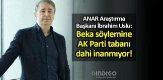 ANAR Araştırma Başkanı İbrahim Uslu: Beka söylemine AK Parti tabanı dahi inanmıyor