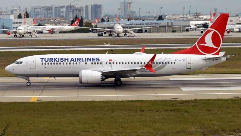 thy türk hava yolları b 737 max 8