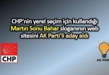 CHP yerel seçim sloganı Martın Sonu Bahar sitesini AK Partili aday aldı