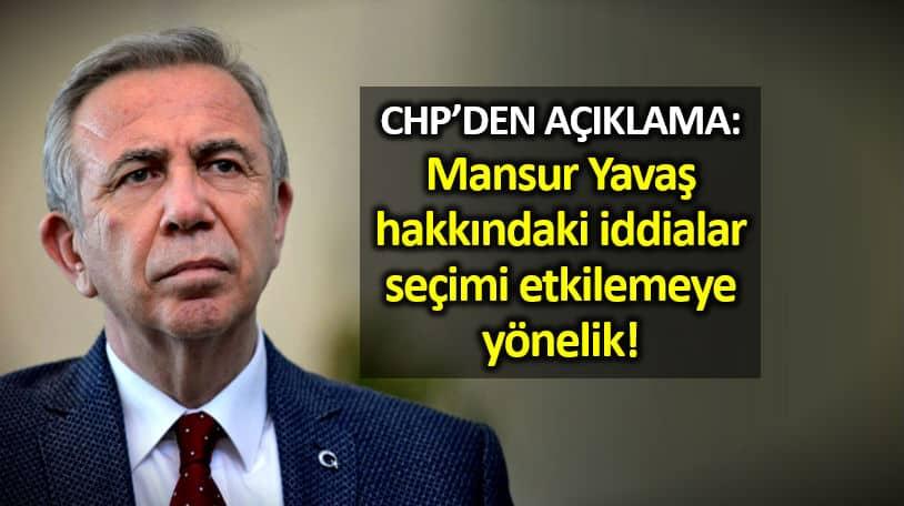 CHP Özgür Özel: Mansur Yavaş hakkındaki iddialar seçimi etkilemeye yönelik