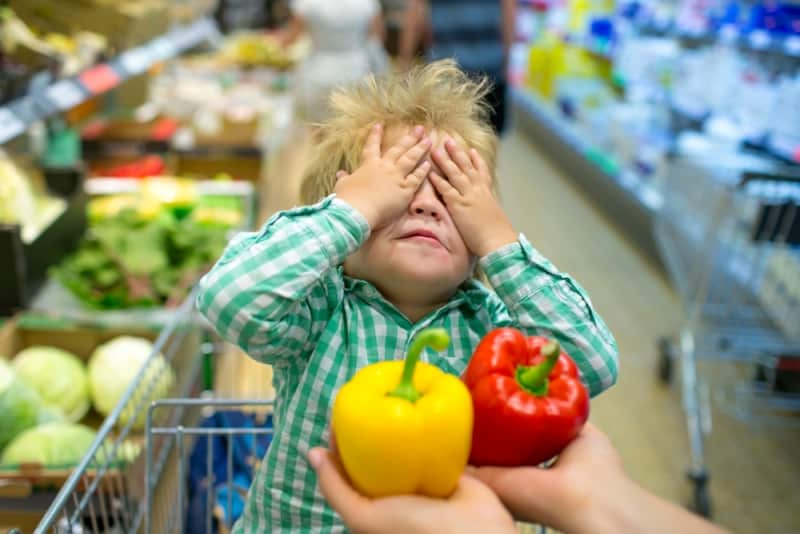 çocuk sebze tatlı biber
