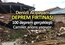 Denizli Acıpayam deprem fırtınası: 100 deprem gerçekleşti