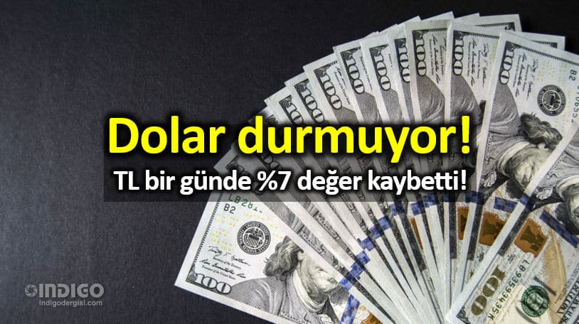 Dolar durmuyor: TL bir günde yüzde 7 değer kaybetti!