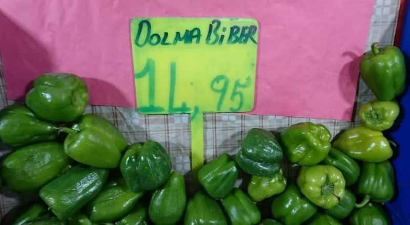 dolma biber kilosu fiyatı sebze fiyatları